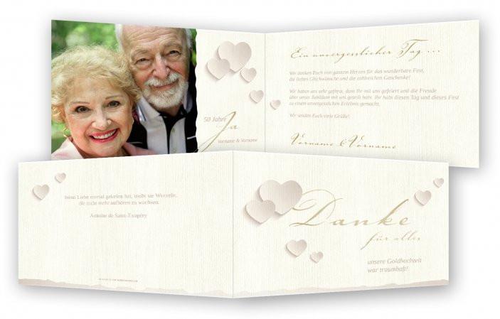 Vortrag Für Goldene Hochzeit  Danksagungskarten für Goldene Hochzeit