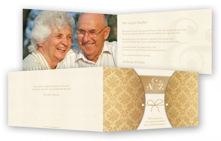 Vortrag Für Goldene Hochzeit  Vorlage für Danksagungen Goldene Hochzeit