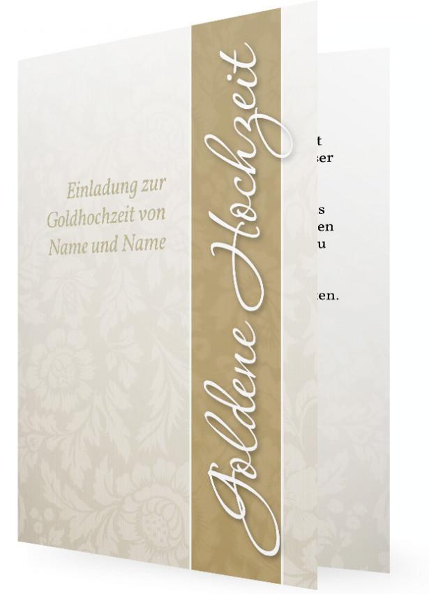 Vortrag Für Goldene Hochzeit  Einladungen für Goldene Hochzeit