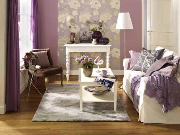 Wandgestaltung Wohnzimmer  Wunderbare Wandgestaltung im Wohnzimmer