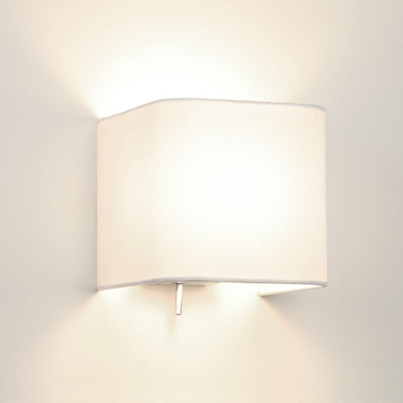 Wandlampe Mit Schalter  Edle Schirm Wandlampe quadratisch mit Kipp Schalter ASHINO