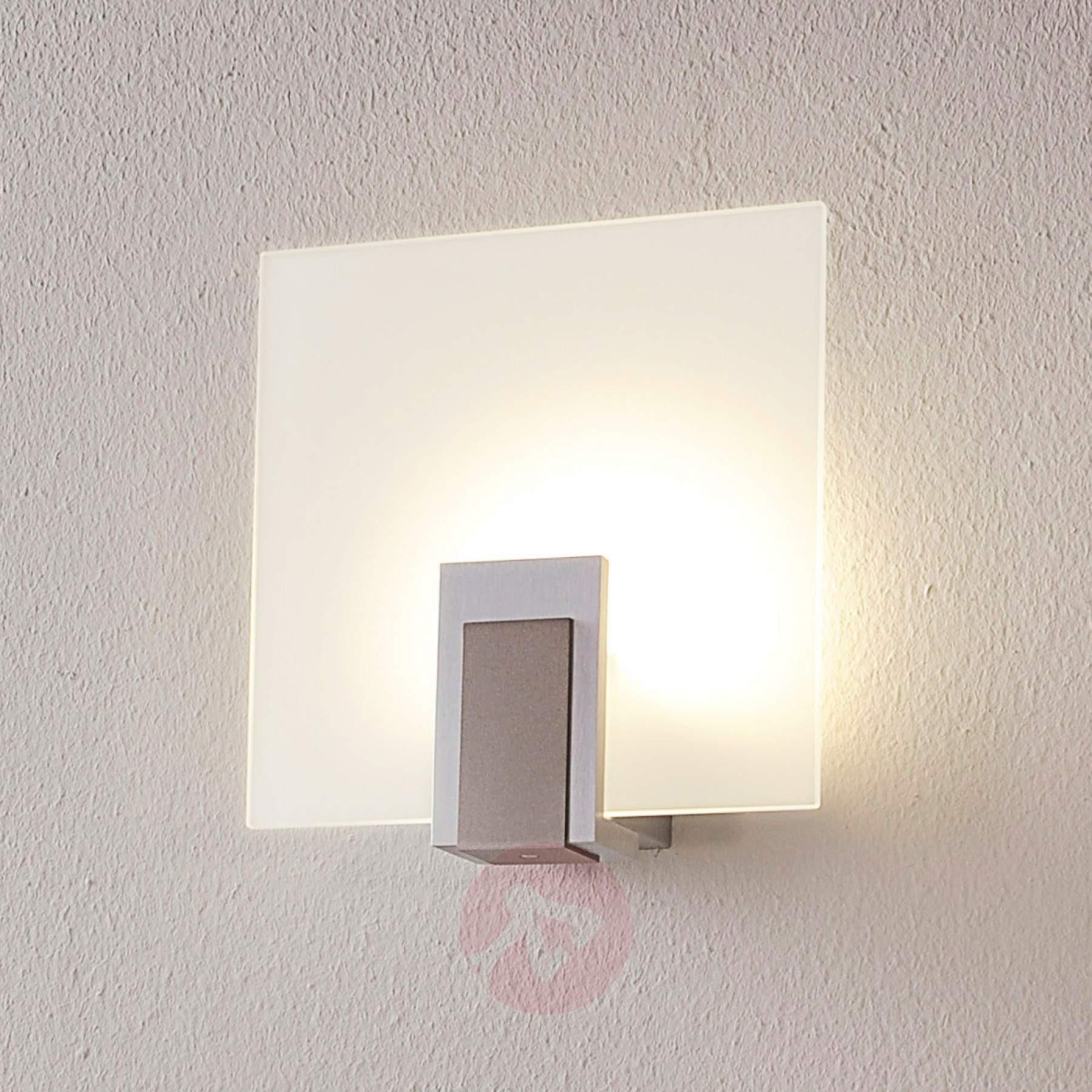 Wandlampe Mit Schalter  Glas Wandlampe Sara mit LED und Schalter