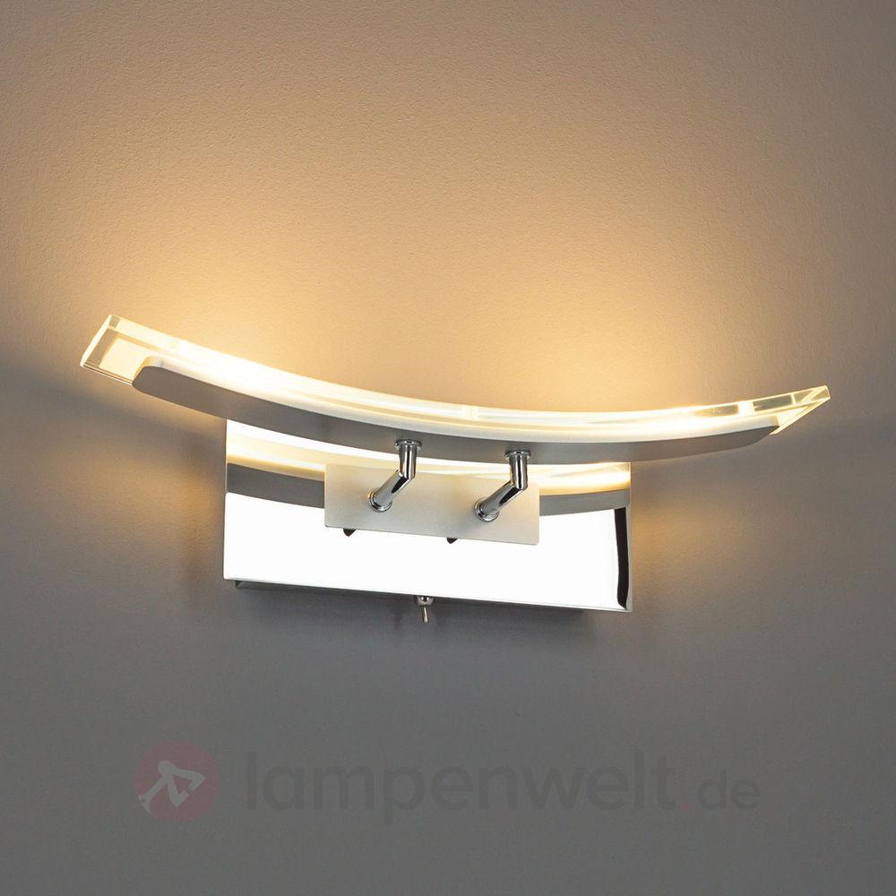 Wandlampe Mit Schalter  LED Wandleuchte Jascha Wandlampe Klar Chrom Modern mit
