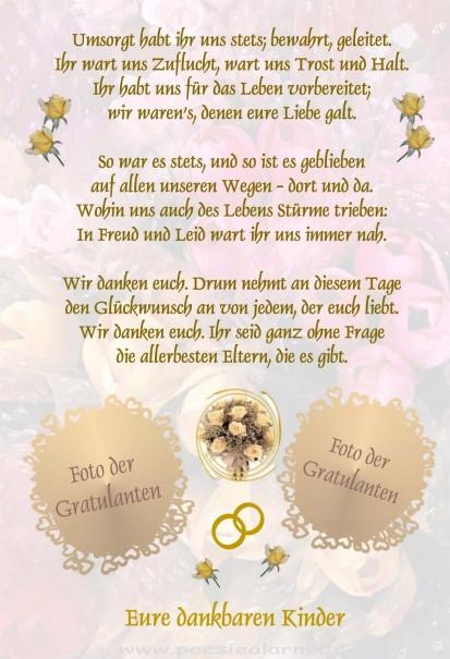 Was Schenken Eltern Zur Hochzeit Des Sohnes  Goldene Hochzeit