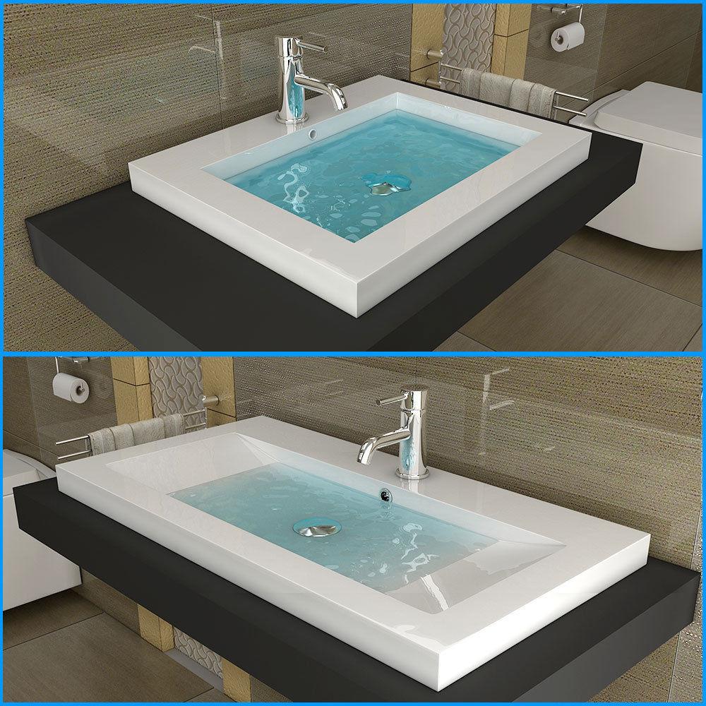 Waschbecken Eckig  Design Waschbecken Eckig Waschtisch Aufsatzbecken