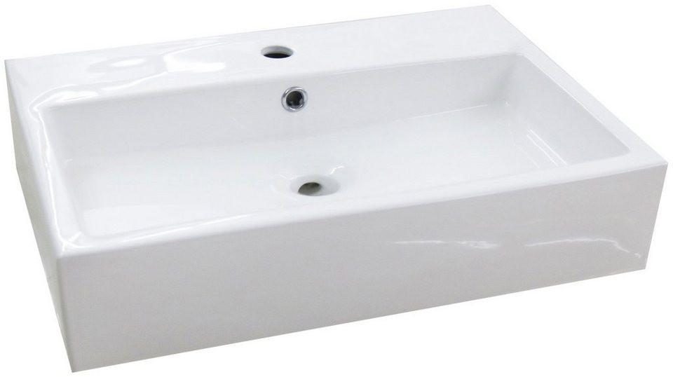 Waschbecken Eckig  Aufsatzbecken Verona Waschbecken eckig Breite 60cm