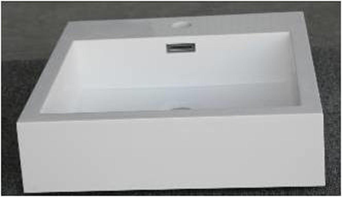 Waschbecken Eckig  Mineralguss Aufsatz Waschbecken Eckig 450x450x110 mm