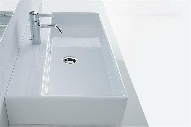 Waschbecken Eckig  Waschtisch Waschbecken Aufsatzwaschbecken Aufsatz eckig 80