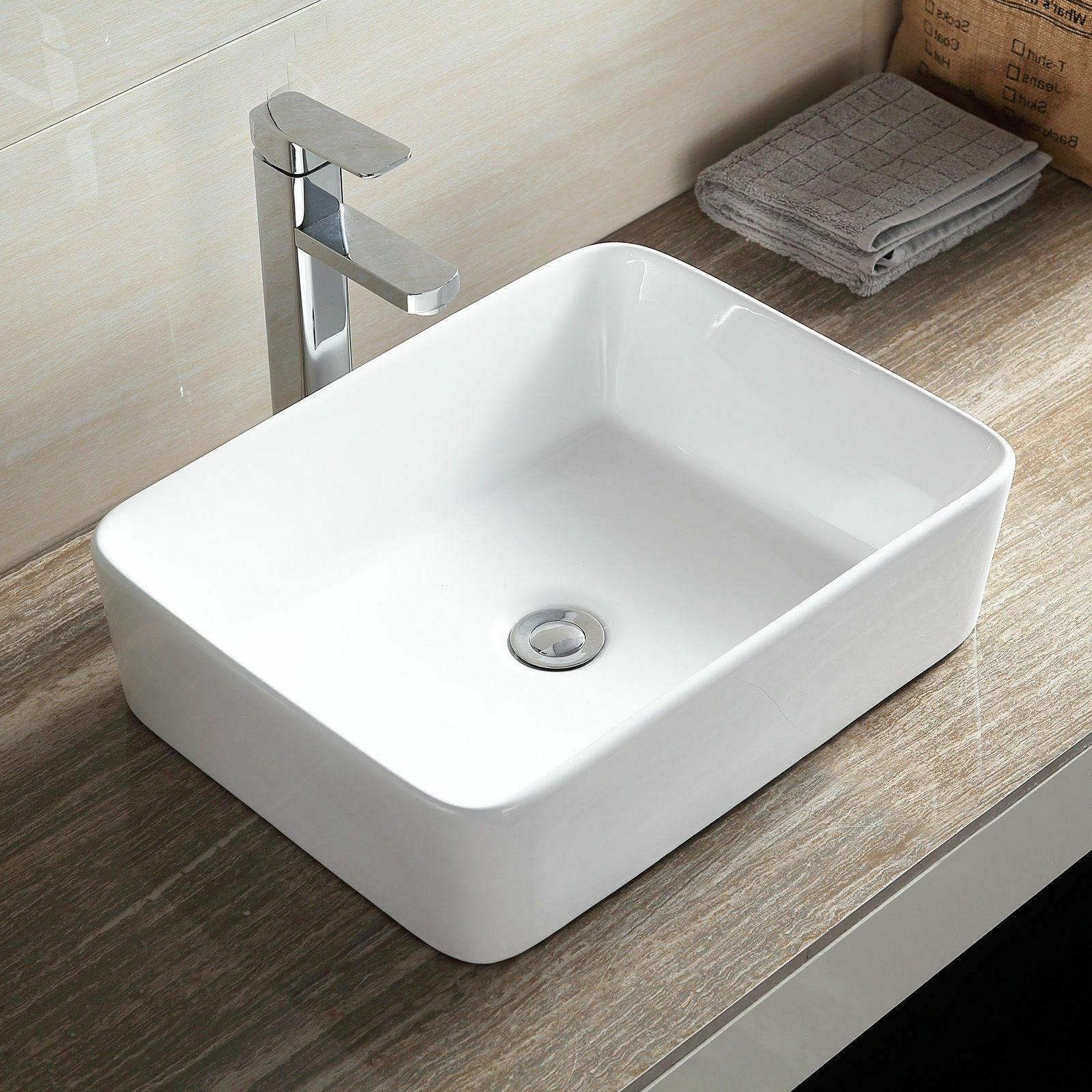 Waschbecken Eckig  Aufsatzwaschbecken Aufsatz Waschtisch Waschbecken eckig