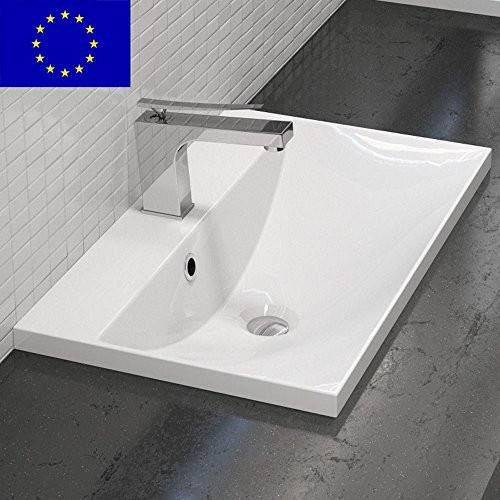 Waschbecken Eckig  Einbau Waschbecken 60x35cm eckig