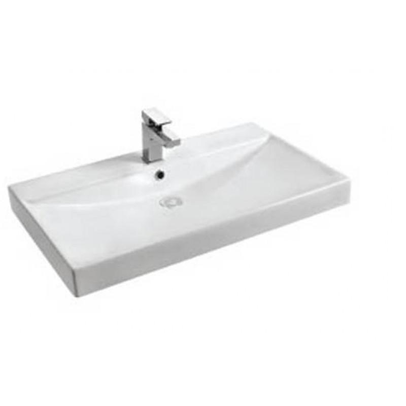Waschbecken Eckig  Keramik Aufsatz Waschbecken Eckig 800x480x90 mm 149 00