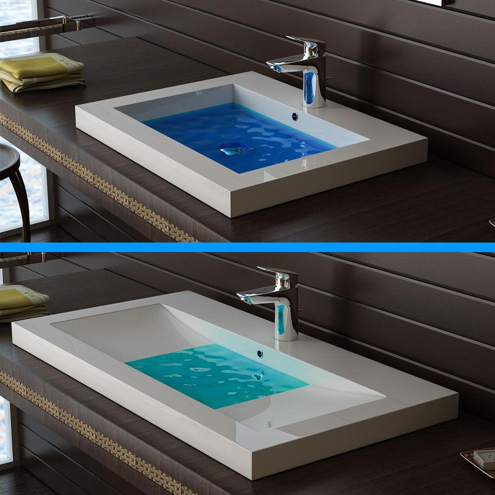 Waschbecken Eckig  Desing Eckig Waschbecken Aufsatzbecken mit Überlauf