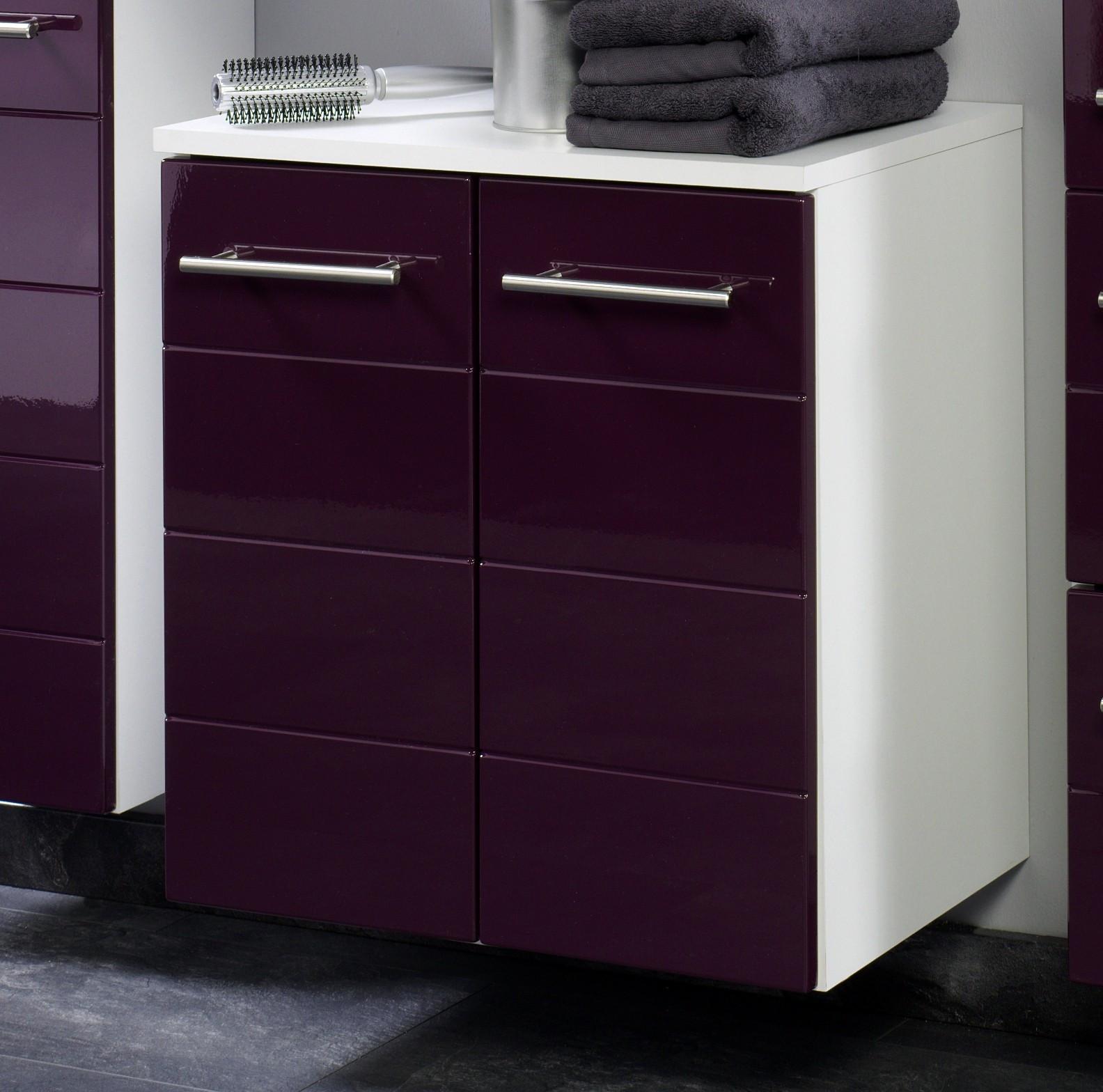 Waschbeckenunterschrank 50 Cm Breit  Bad Waschbeckenunterschrank RIMINI 2 türig 50 cm breit
