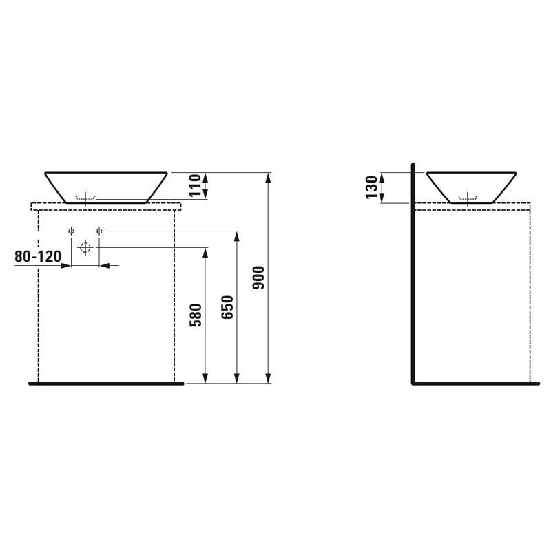 Waschtisch Höhe  Badezimmer Waschtisch Höhe