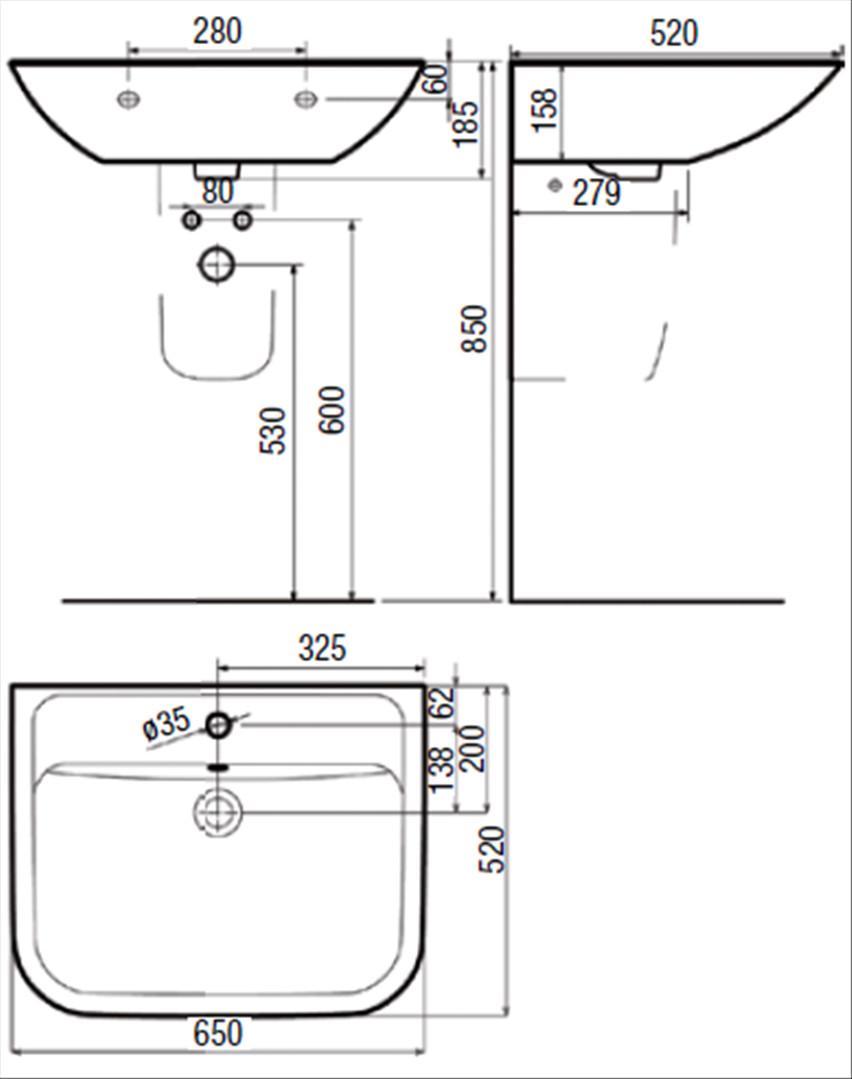 Waschtisch Höhe  Einbaumaße waschtisch – Eckventil waschmaschine