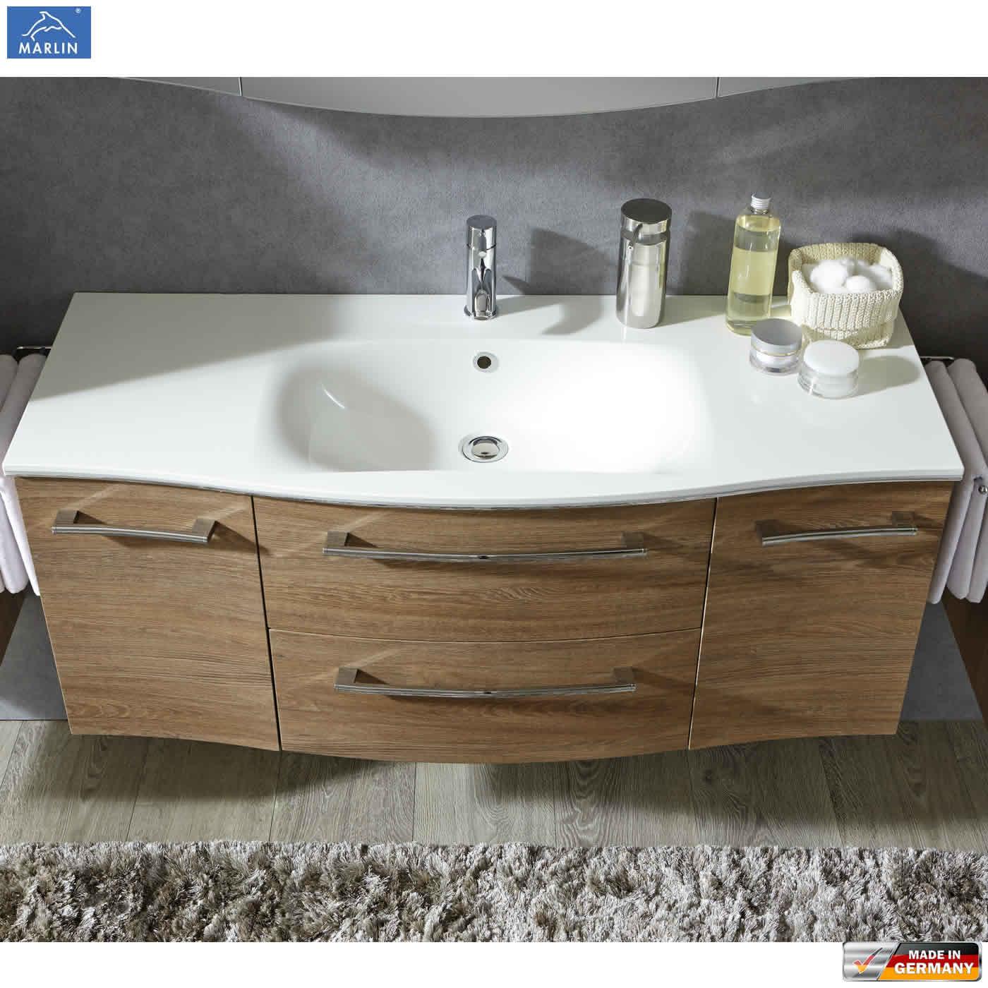 Waschtisch Mit Unterschrank 120 Cm  Marlin 3120 Waschtisch Set mit 120 cm Mineral Waschtisch