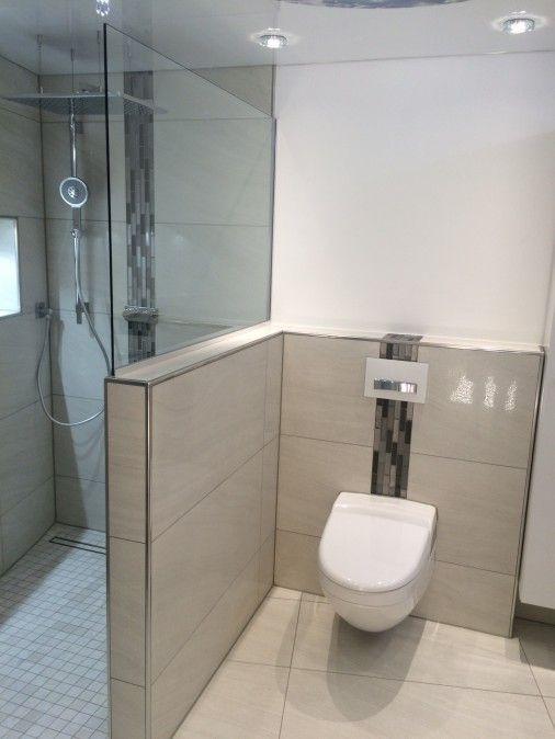 Wc Dusche  Abtrennung zwischen Dusche und WC