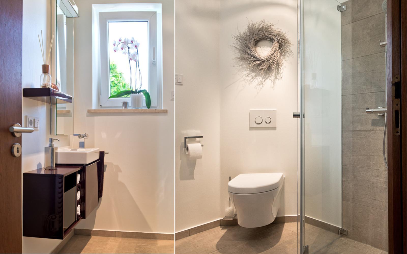 Wc Dusche  Dusche im Gäste WC Kreuz Schnaittach