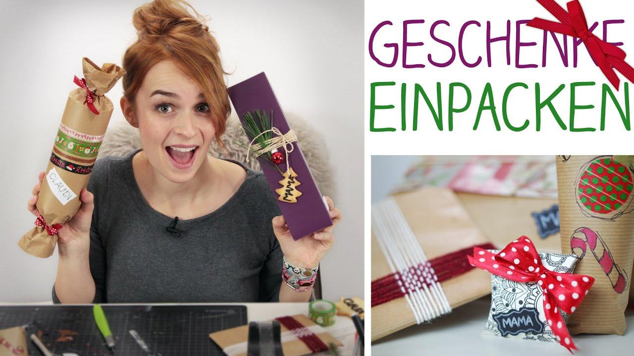 Weihnachten Geschenke  DIY 6 Einpack Ideen Geschenke verpacken Weihnachten