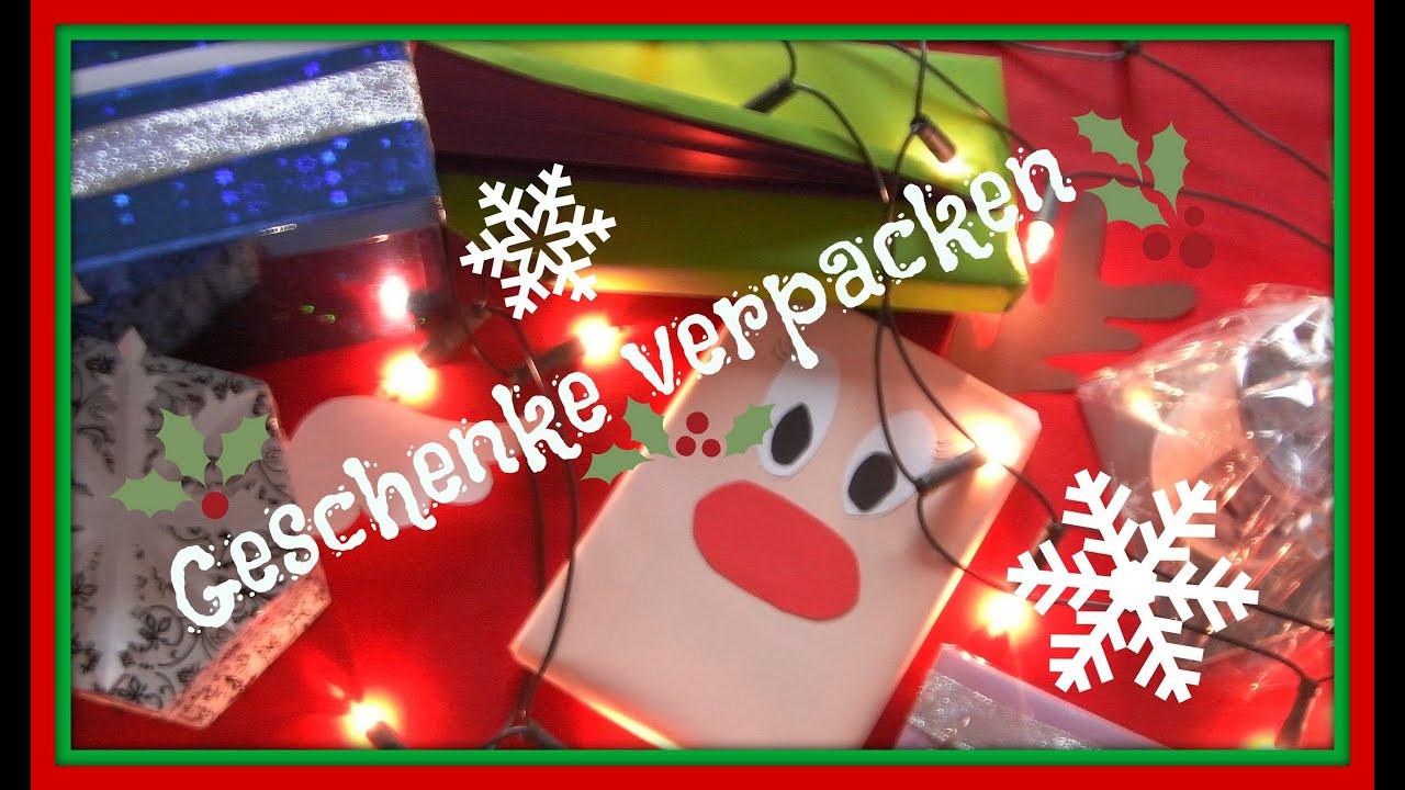 Weihnachten Geschenke  GESCHENKE kreativ VERPACKEN für Weihnachten
