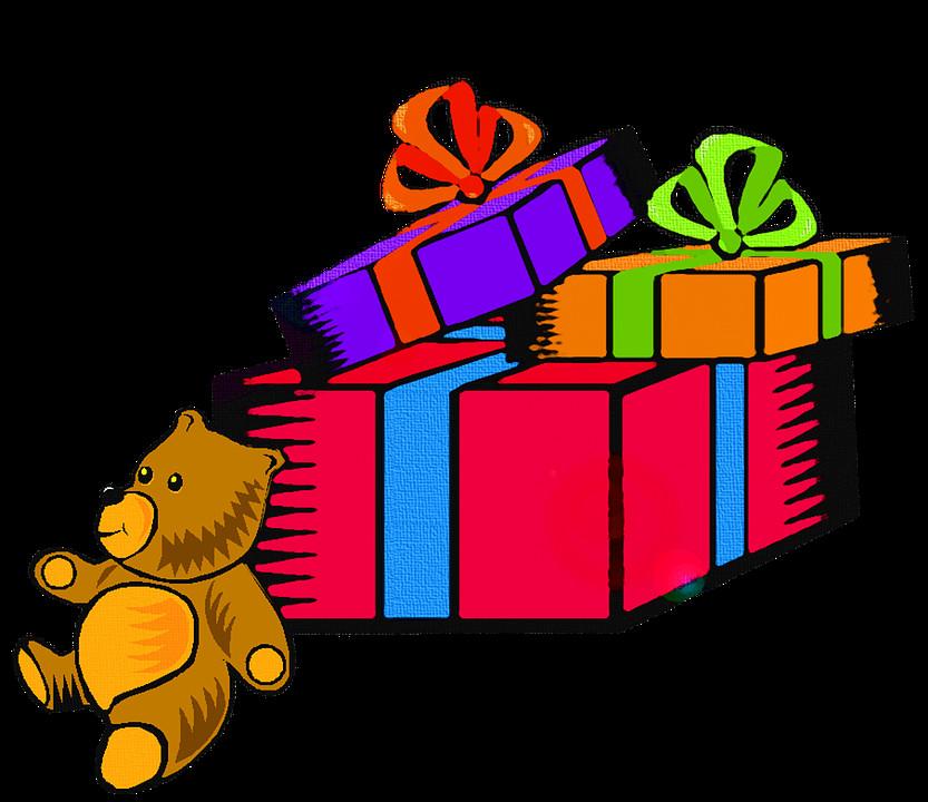 Weihnachten Geschenke  Kostenlose Illustration Geschenke Weihnachten Teddy