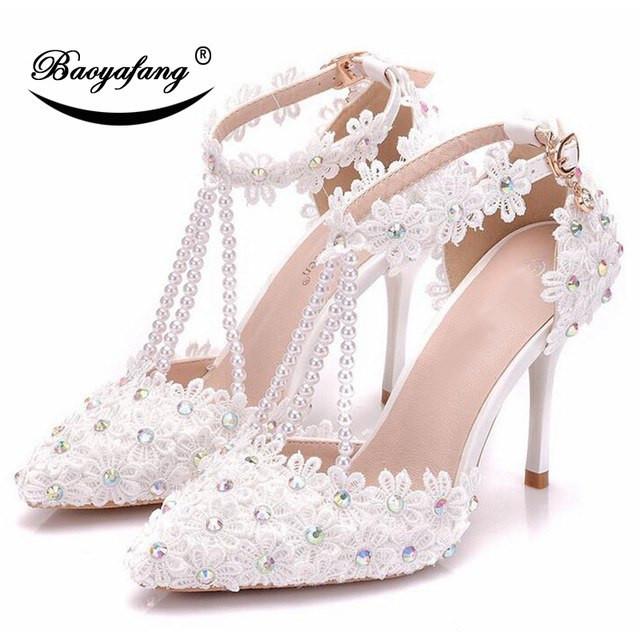 Weiße Schuhe Hochzeit  Gelegenheitsmarke BaoYaoFang Weiße Blume hochzeit schuhe