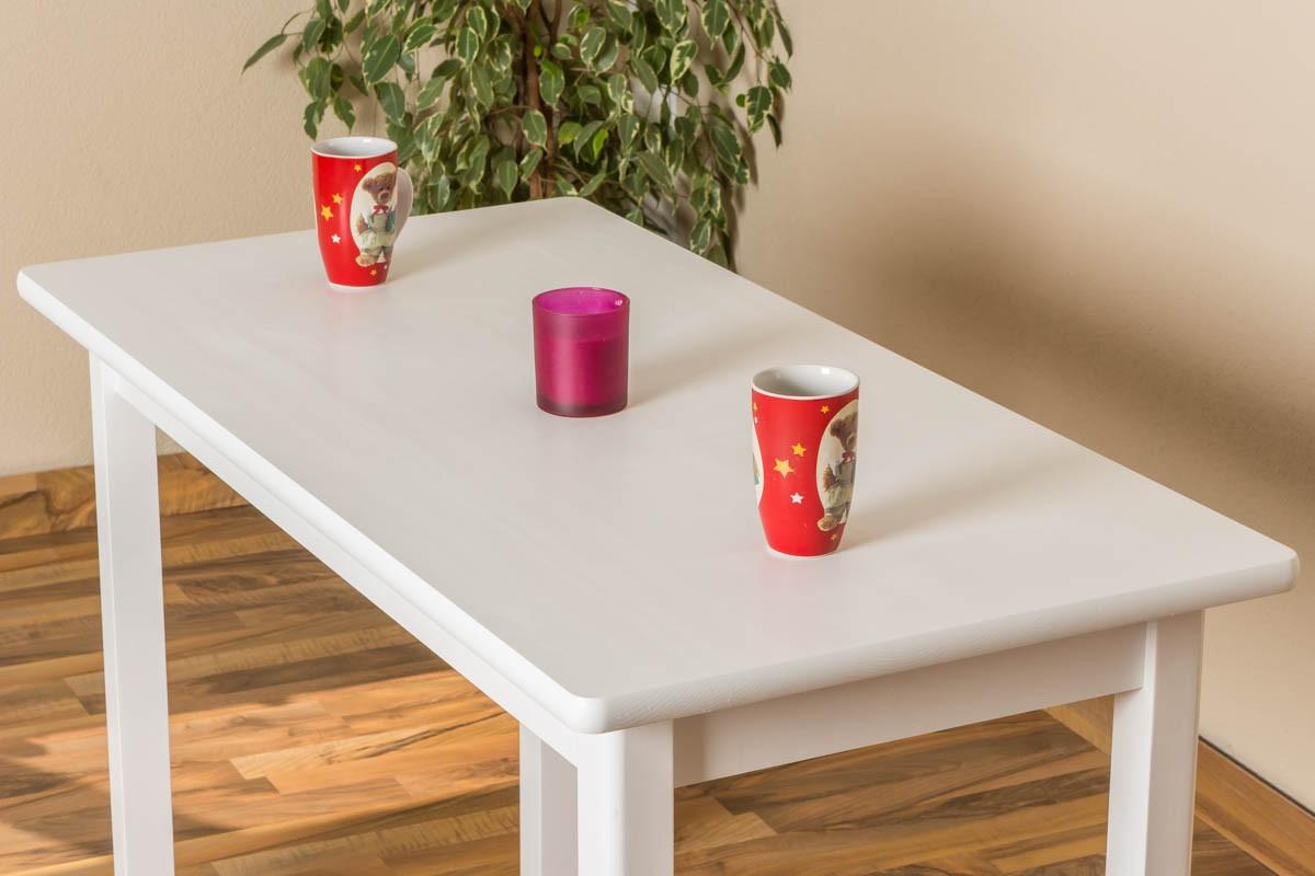 Weißer Tisch  Weißer kleiner Tisch