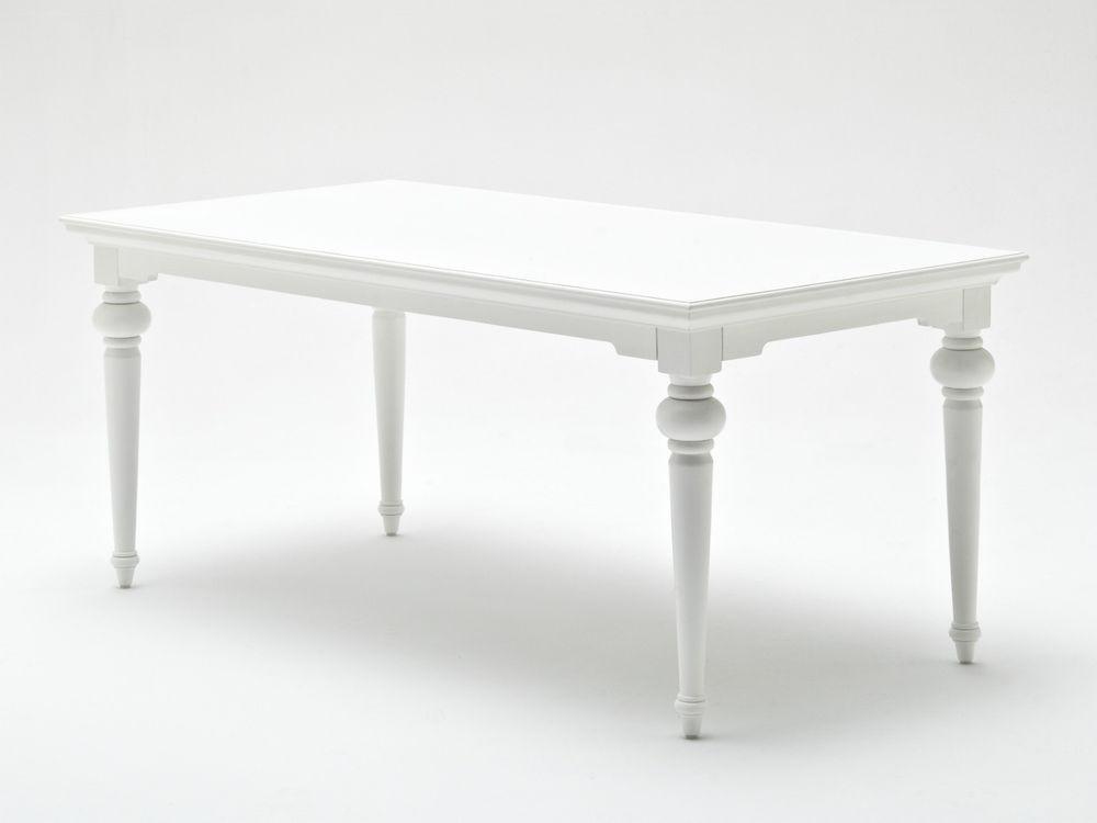 Weißer Tisch  KARL Esstisch weiß antik Landhausstil weißer Tisch