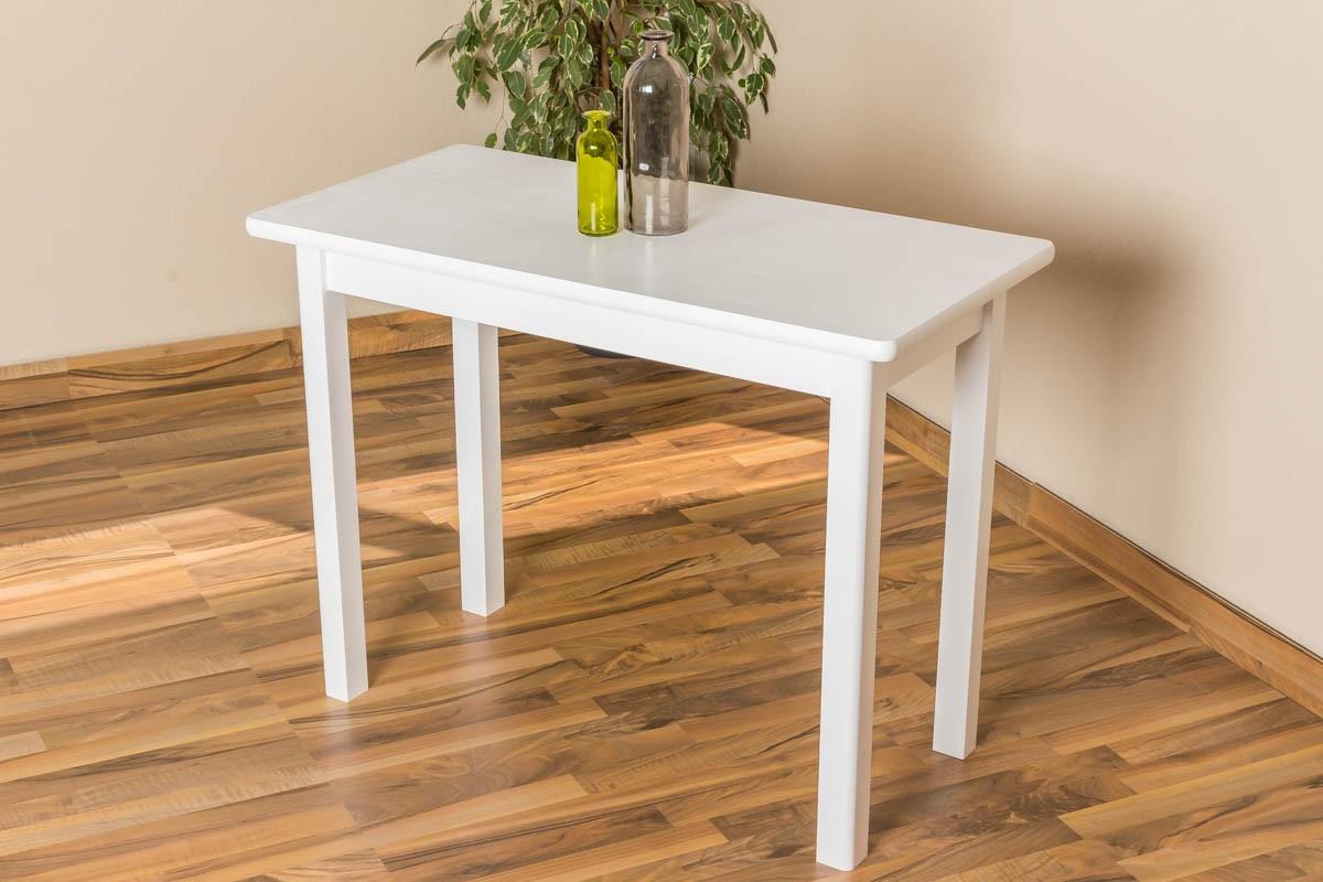 Weißer Tisch  Kleiner weißer Tisch
