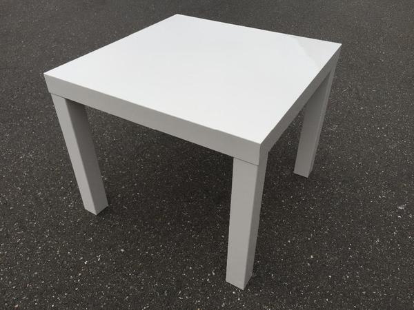 Weißer Tisch  weißer ikea Tisch BxLxH 55x55x45cm Wohnzimmer