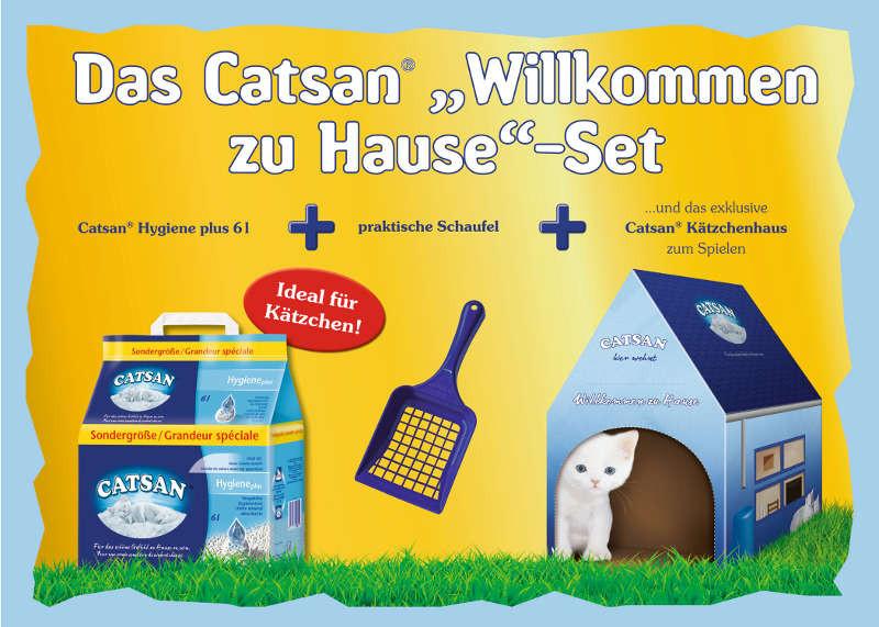 Willkommen Zu Hause  Streu Schaufel und das erste eigene Häuschen Das Catsan