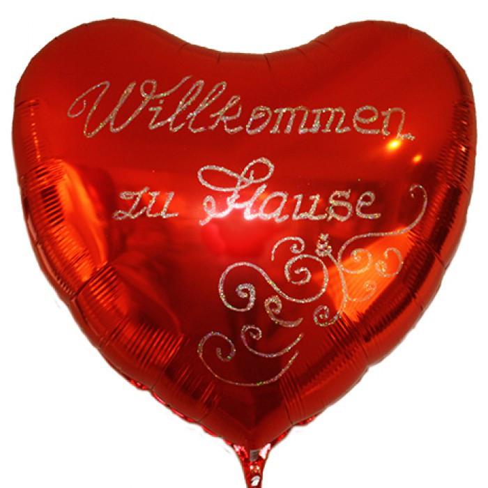 Willkommen Zu Hause  Herzballon Willkommen zu Hause