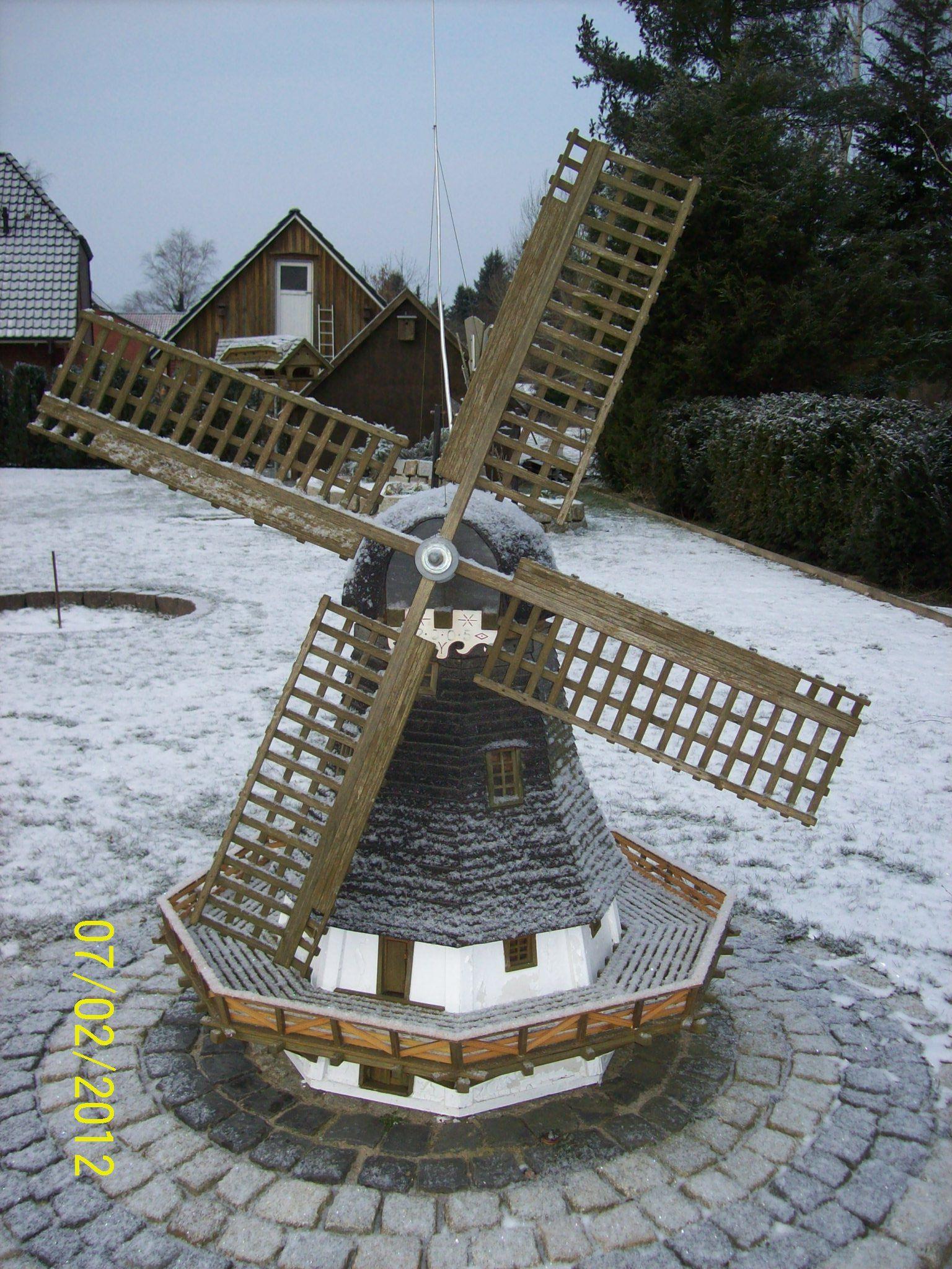 Windmühle Garten  Gartenwindmühle 1 Bauanleitung zum selber bauen