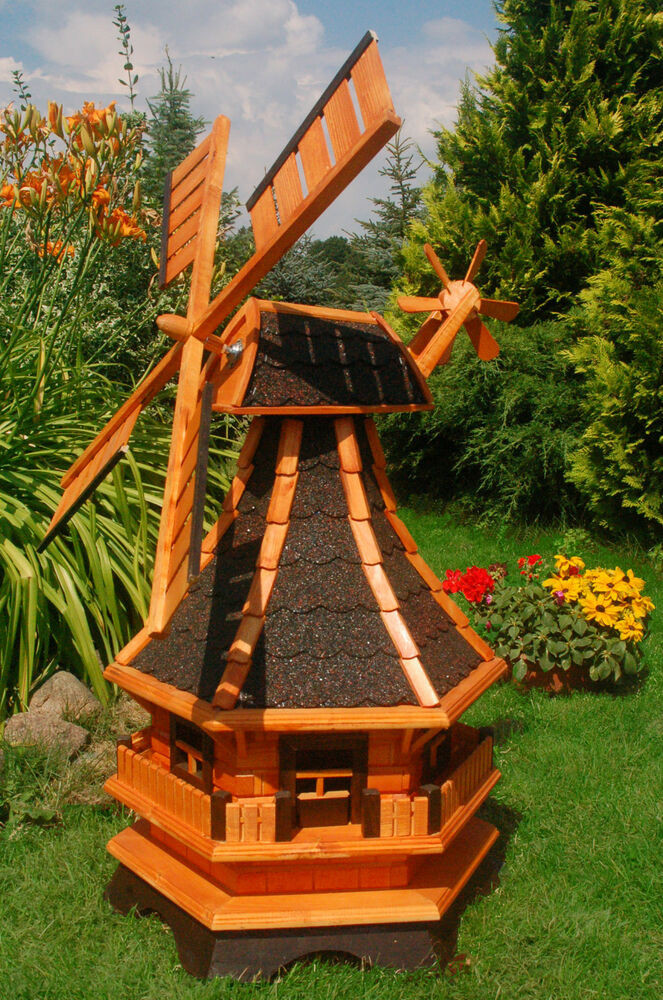 Windmühle Garten  Windmühle Windmühlen kugelgel 1 3m mit Beleuchtung Solar