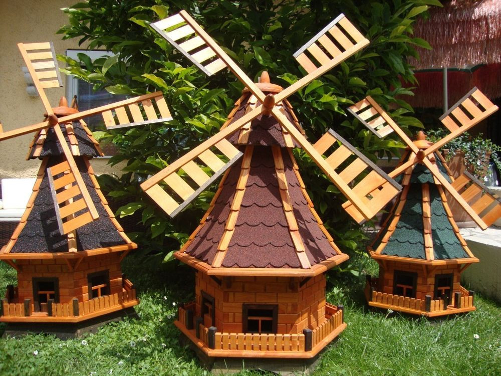 Windmühle Garten  Große Windmühlen Garten Windmühle 1m 1 4 m Windrad mit