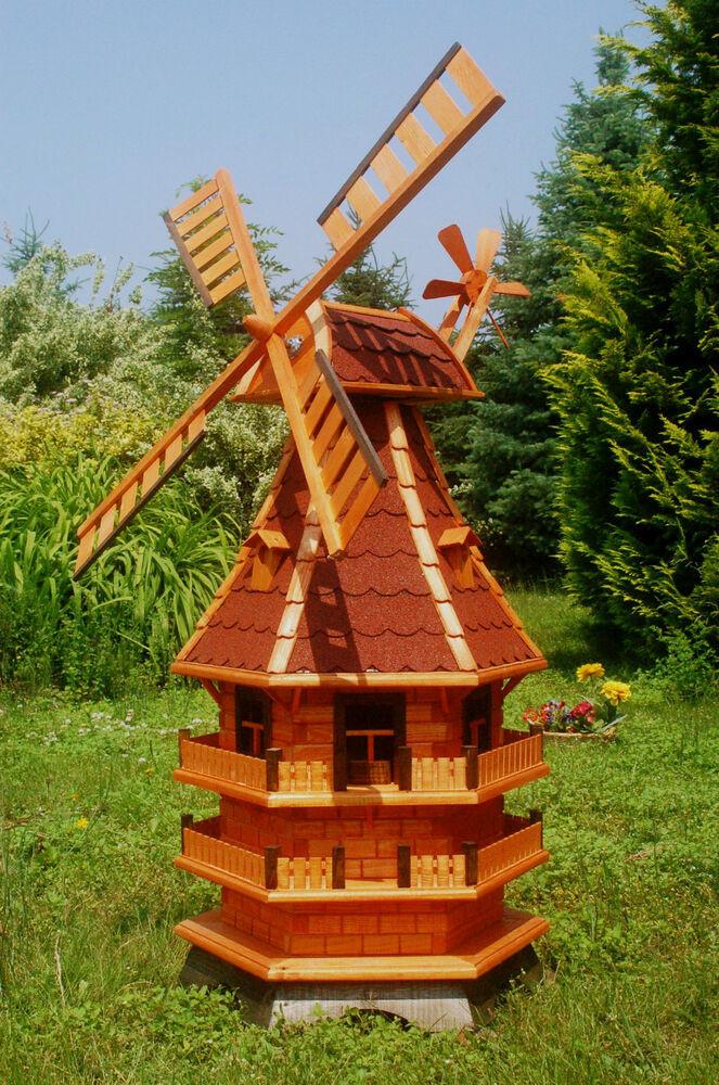 Windmühle Garten  Windmühle Windmühlen kugelgel 1 5m mit Beleuchtung Solar