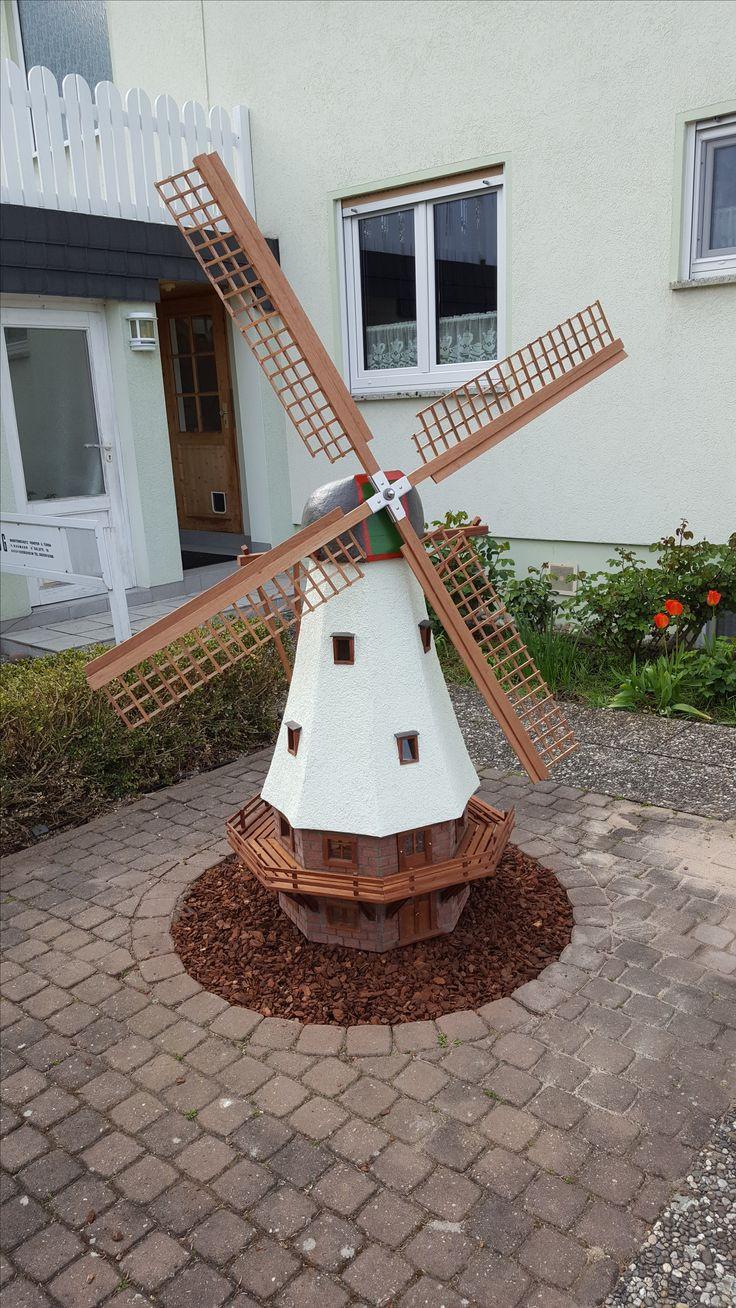 Windmühle Garten  Windmühle für den Hof Bauanleitung zum selber bauen