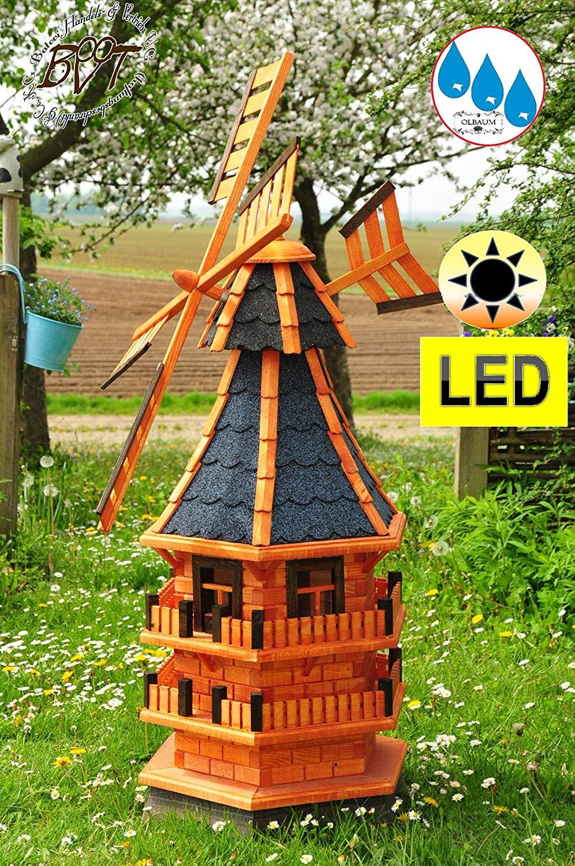 Windmühle Garten  Windmühle Klassik Garten Windmühle aus Holz gross 140 cm