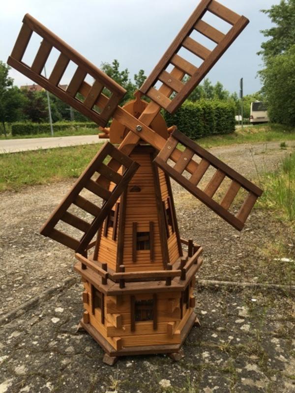 Windmühle Garten  Windmühle aus Holz Gartendeko Selbstgemacht Neu in