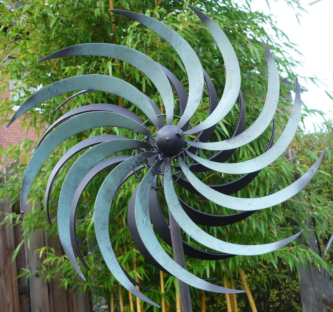 Windrad Garten  Windspiel Windrad Garten Figur Metall Wind Rad Sonne