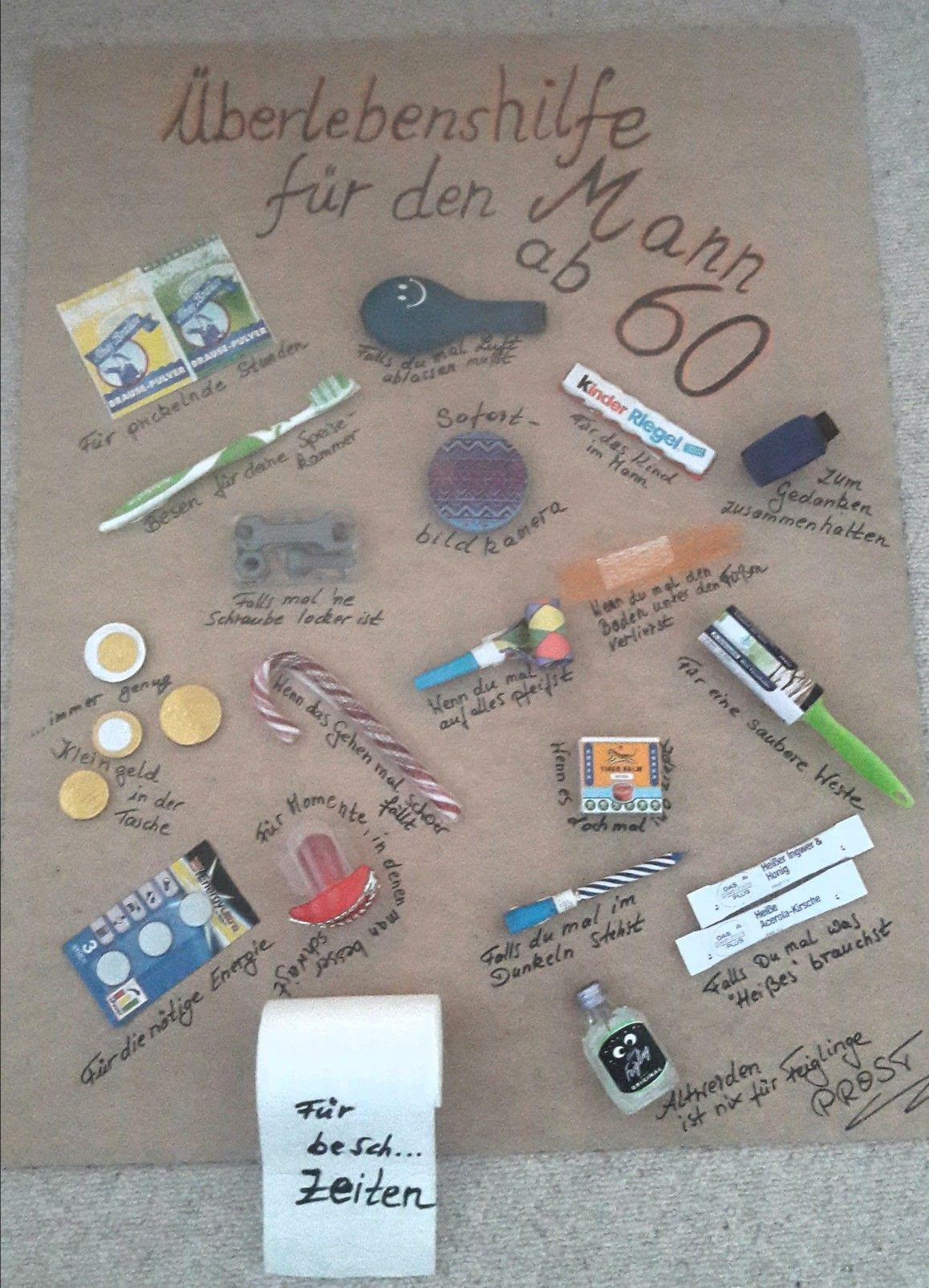 Witzige Geschenke Zum 60 Geburtstag Selber Machen  Pin von Anja Otten auf Geschenke