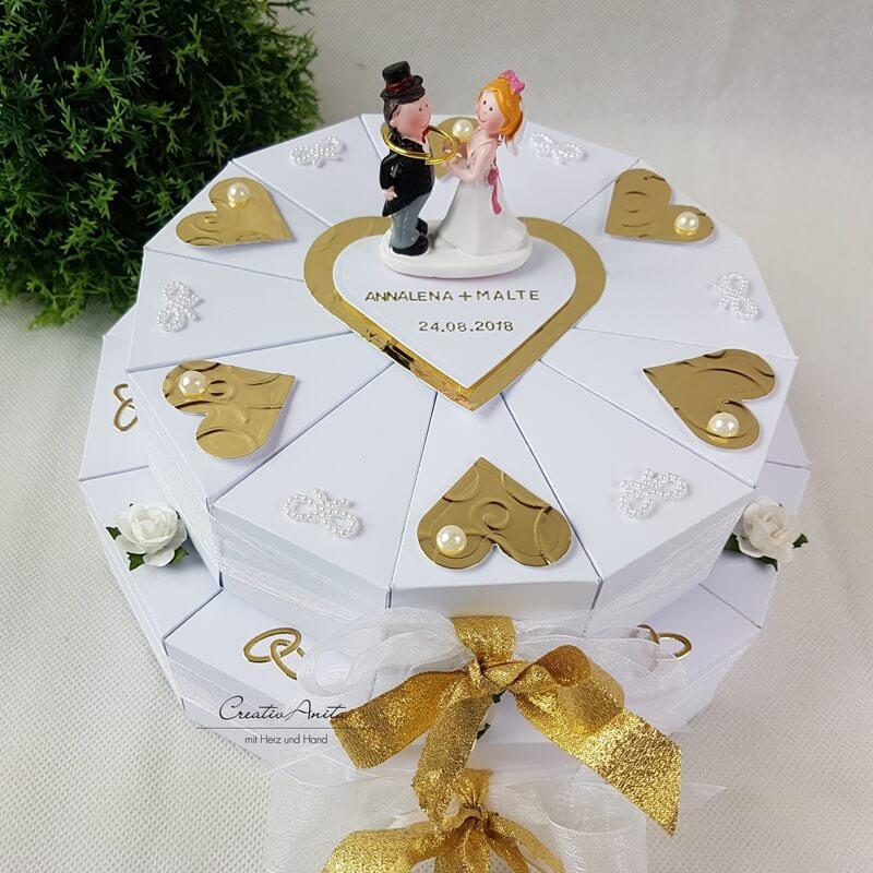 Witzige Geschenke Zur Perlenhochzeit  Schachteltorte zur Goldenen Hochzeit 2 stöckig