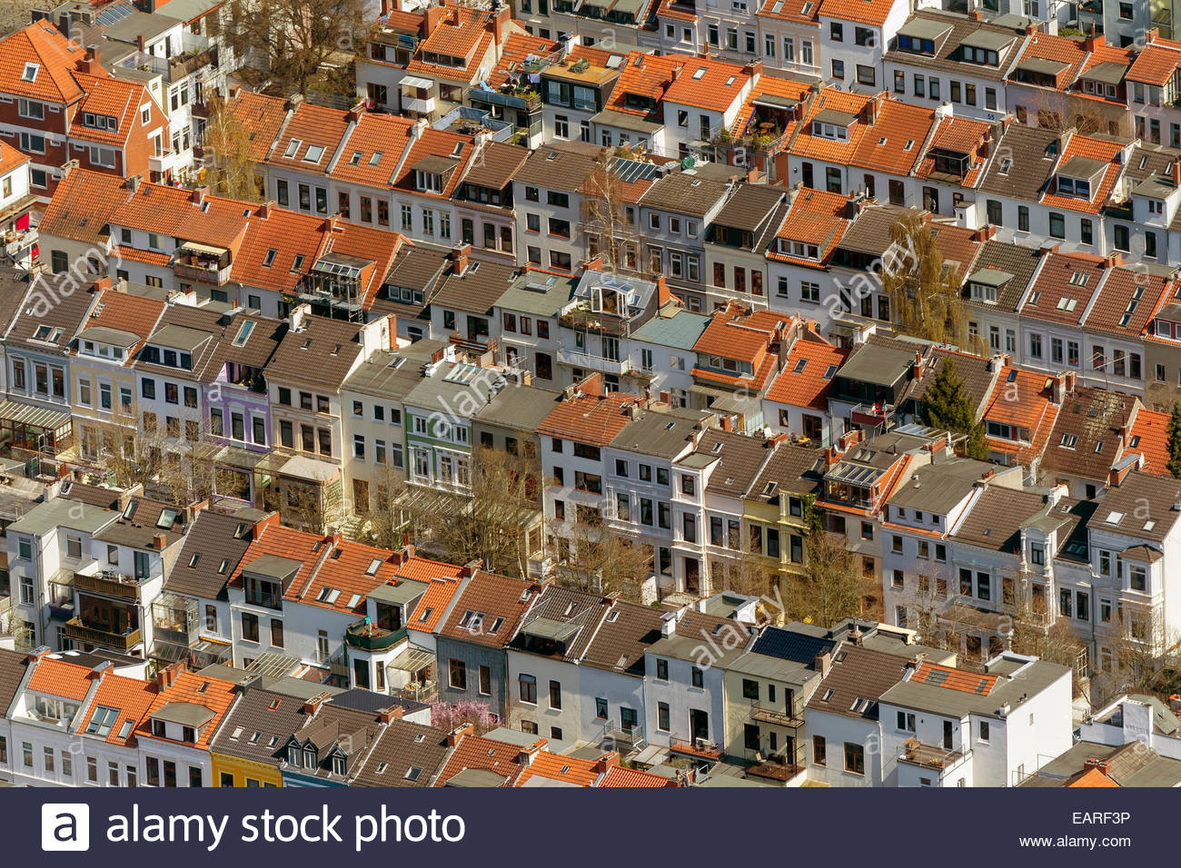 Wohnung Bremen  Aerial view rows of houses in the Findorff quarter