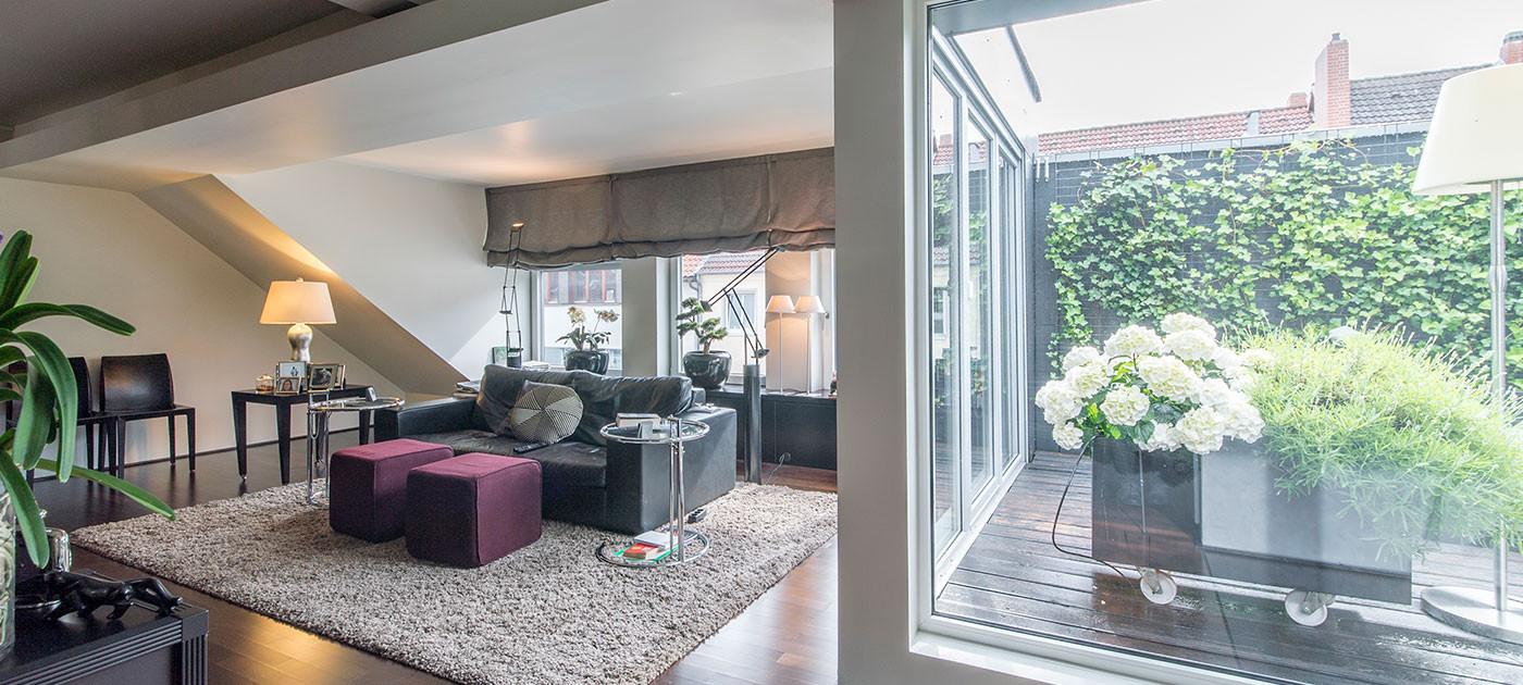 Wohnung In Hannover  Moderne Penthouse Wohnung in Hannover OHLDE Interior Design