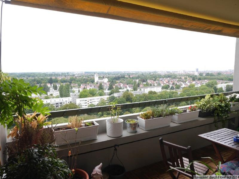 Wohnung Mieten Karlsruhe  Panoramablick über Karlsruhe Freundliche 4 ZW mit 3