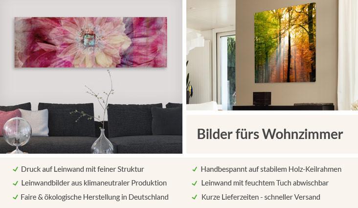 Wohnzimmer Bilder Xxl  Wandbilder fürs Wohnzimmer