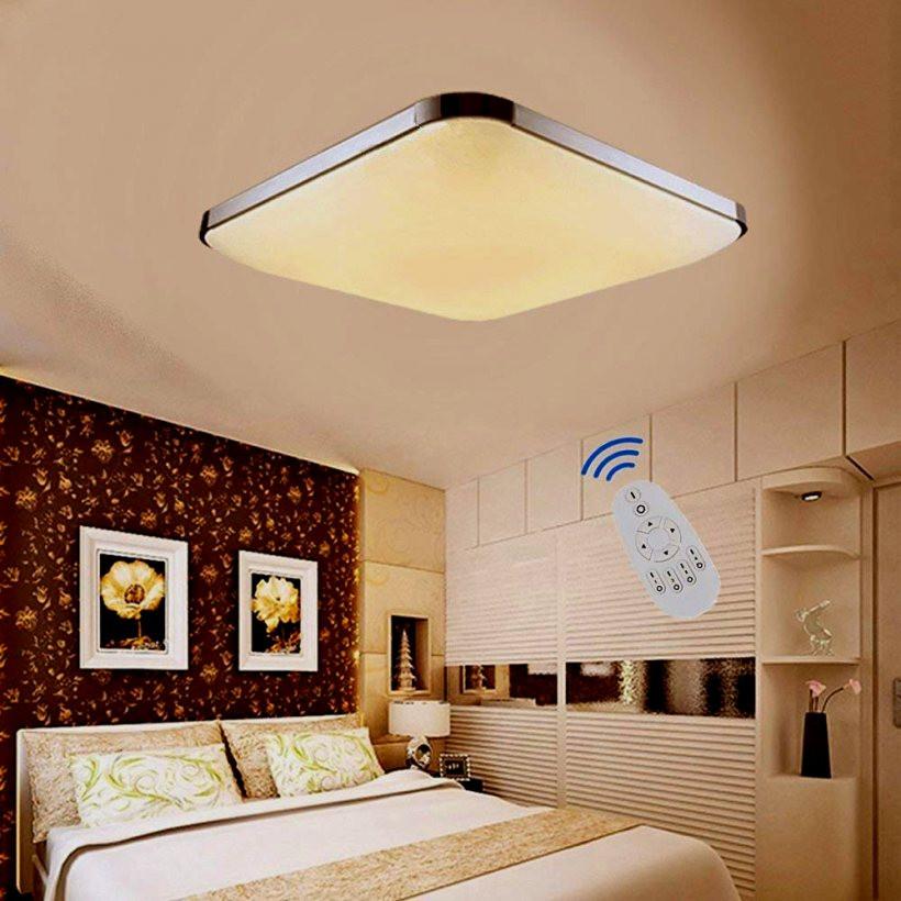 Wohnzimmer Deckenleuchte  Led Deckenleuchte Wohnzimmer ETiME LED Dimmbar Deckenlampe