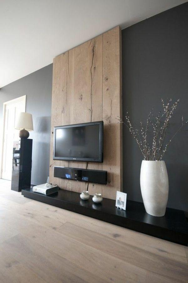 Wohnzimmer Design  Die besten 25 Holzwand wohnzimmer Ideen auf Pinterest