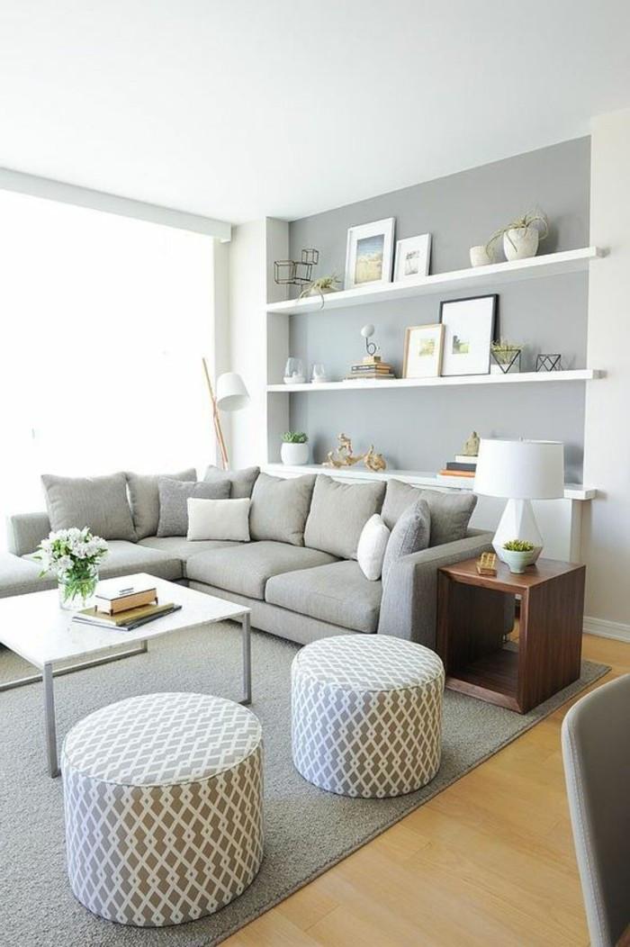 Wohnzimmer Design  120 Wohnzimmer Wandgestaltung Ideen