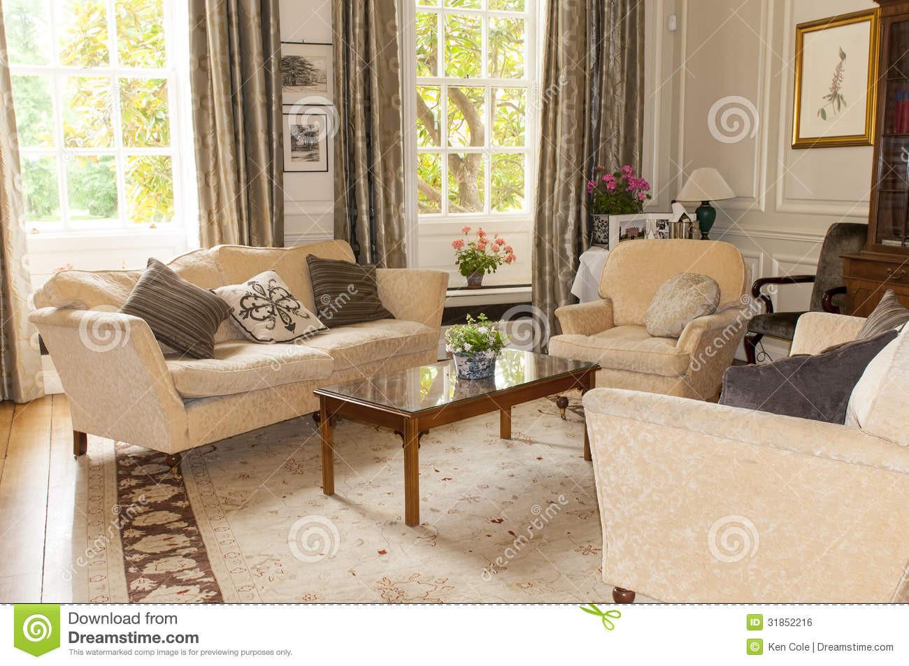 Wohnzimmer Englisch  Englische Teestube Oder Wohnzimmer Stockfoto Bild von